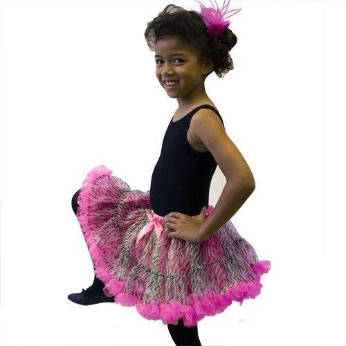 Dasha 2535-Zebra Petti Skirts-HOT PINK-ONE SIZE-CHILD