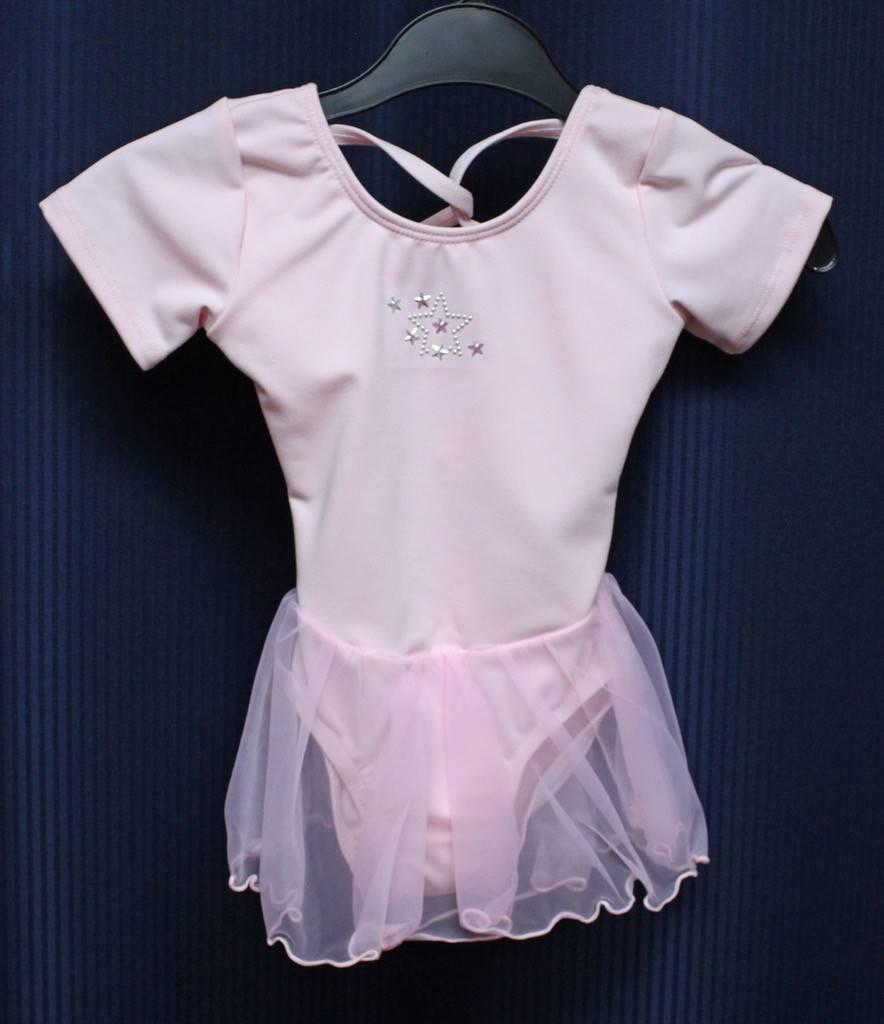 Leo's Dancewear S1960-Dance Dress-PINK-XSC(2-3)CHILD