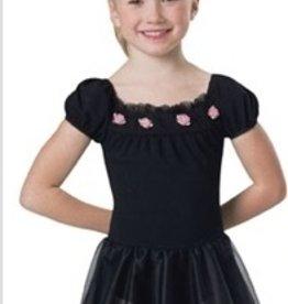 Leo's Dancewear 15717-Dance Dress-BLACK-MC (8-10)CHILD
