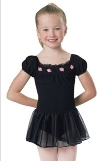 Leo's Dancewear 15717-Dance Dress-BLACK-MC (8-10)CHILD