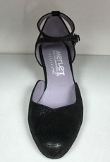 "Merlet BADRAS-Ballroom Shoes 1.7"" Suede Sole Canaula Leather-BLACK"