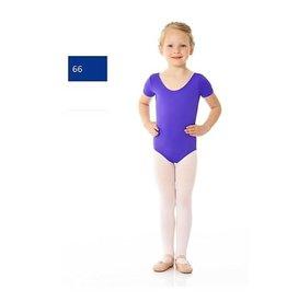 Mondor 40096-Short Sleeve Leotard Child-66-ROYAL BLUE