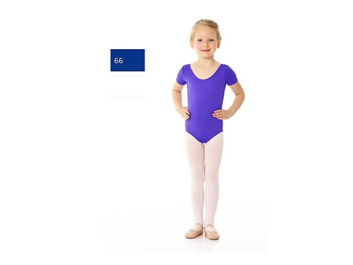 Mondor 40096-Short Sleeve Leotard Child-66-ROYAL BLUE