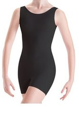 Mondor 4054-Cotton Tank Unitard Short-BLACK