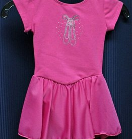 MotionWear 5133-Dance Dress With Ballet Slippers-HOT PINK-XS CHILD