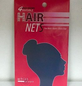 Whirl-A-Style HNET-Hair Net-LIGHT BROWN-ONE SIZE