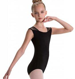 MotionWear 2028-497-Shoulder Strap Back Leo Child-BLACK