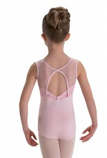MotionWear 2029-472-Gathered Front Bridge Back Tank Leo Child-PINK