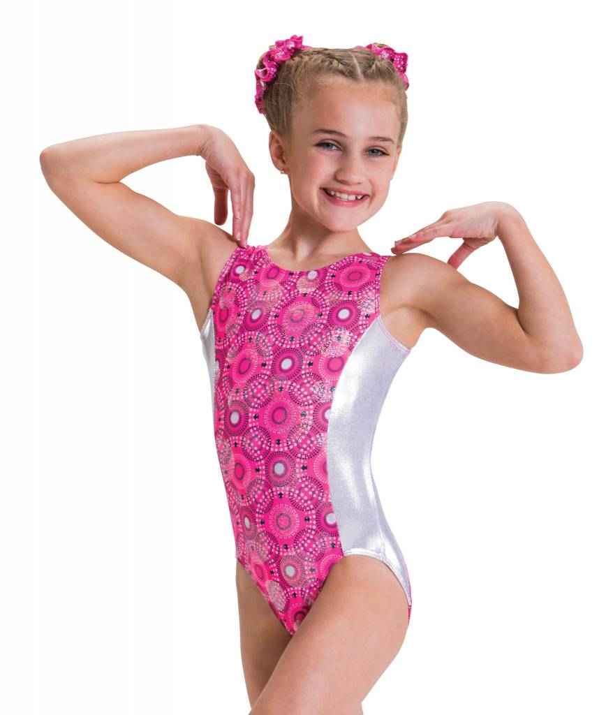 MotionWear 1427-653-Gym Open Circle Back Leo-POPPIN' PINK
