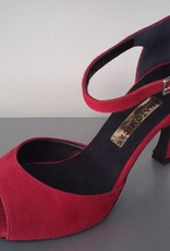 Anatomica 604-Ballroom Shoes 3'' Suede Sole-SUEDE ROSSO