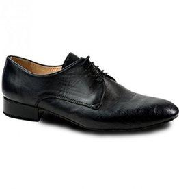 Merlet ZEPHIR-Ballroom Men Shoes 1'' Suede Sole Metis Leather-BLACK