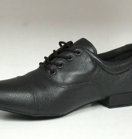 "SoDanca BL104-Roy Ballroom Men Shoes 1"" Suede Sole-BLACK/BLACK"