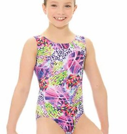 Mondor 27822-Gym Tank Leotard-PURPLE MIX
