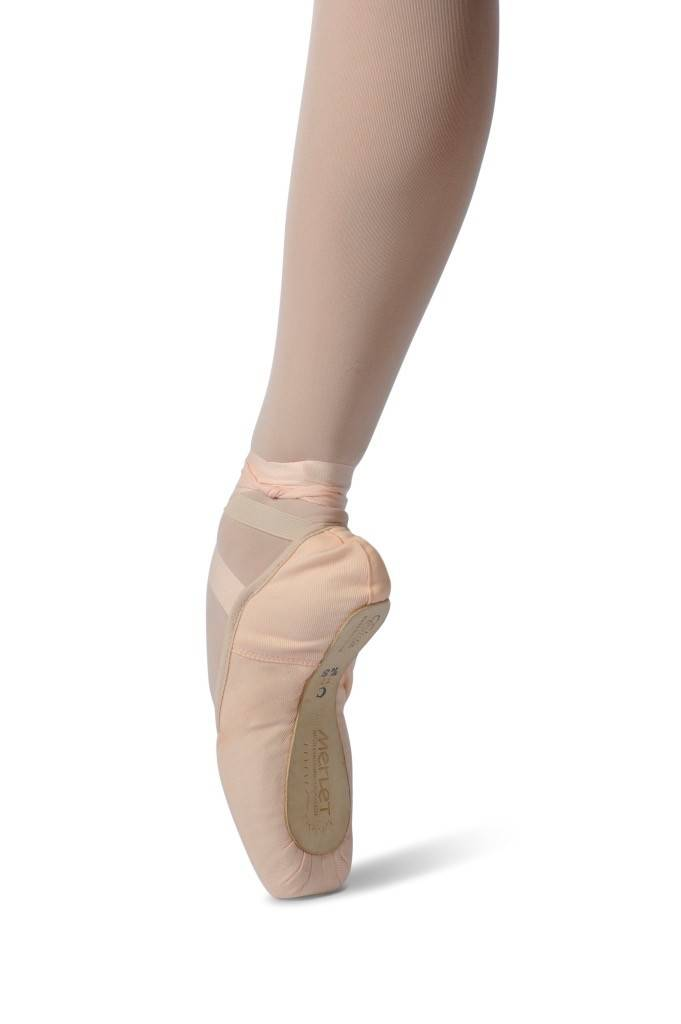 Merlet ELISTA-Stretch canvas Pointe Shoes 3/4 Shank-Medium Level-FLESH