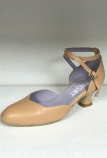 "Merlet BADRAS-Ballroom Shoes 1.7"" Suede Sole Metis Leather-BICHE"