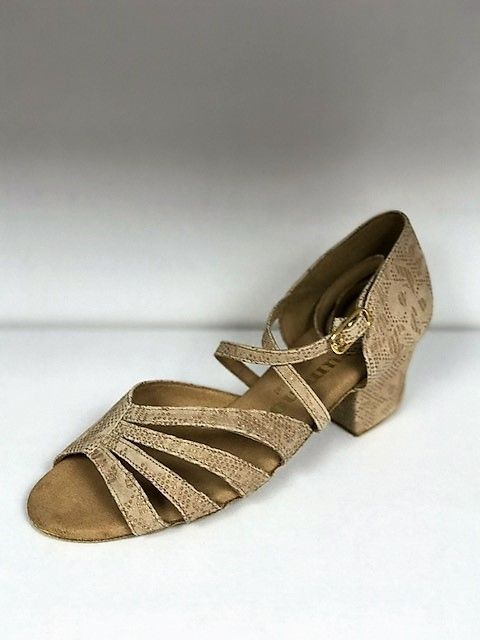 Rummos KAYLA-113-45Ballroom Shoes 1.5'' Suede Sole Leather-TAN