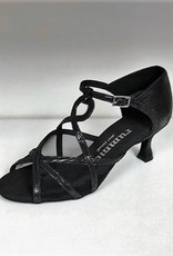 Rummos R365-061-50R-Ballroom Shoes 2.2'' Suede Sole Leather-BLACK
