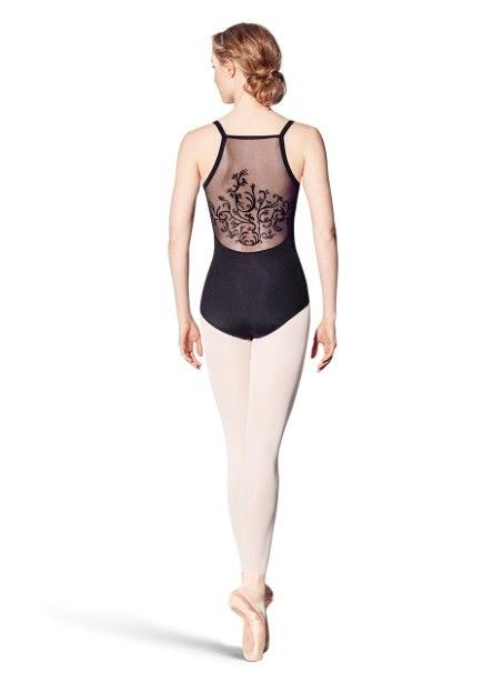 Bloch L8950-Vine Flock Back Cami Leotard