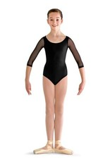 Bloch CL7216-Vine Flock Back 3/4 Sleeve Leotard-BLACK
