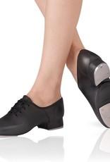 Leo DanceWear LS3006-Split Sole Jazz Tap Shoes-BLACK