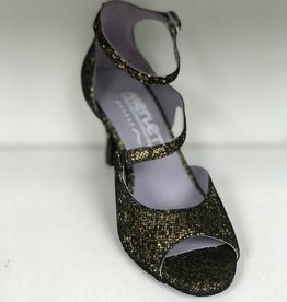 Merlet SYGNE-1315-418-Ballroom Shoes 2.5'' Suede Sole Suede-OR