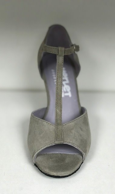 "Merlet SALAMA-Ballroom Shoes 2.5""Suede Sole Velvet-TAUPE"