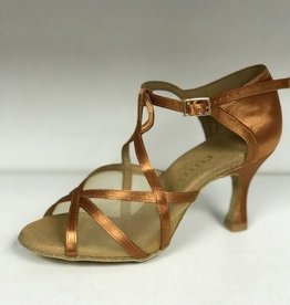 Rummos R365-048-60RR-Ballroom Shoes 2.75'' Suede Sole-TAN SATIN