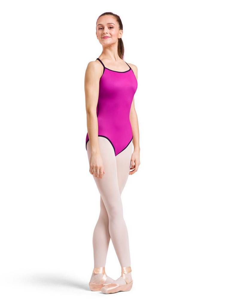 Bloch L8767-Cailey Reversible Leotard-PINK/BLACK