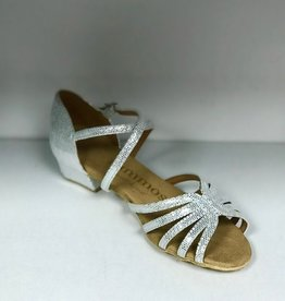 Rummos R320-069-35-Ballroom Shoes 1.3'' Suede Sole Diva Leather-SILVER