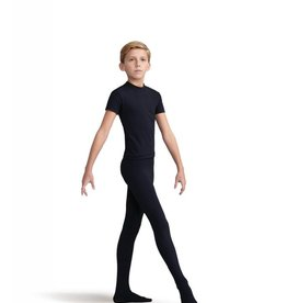 Capezio 10361B-Boys Tactel Footed Tight-BLACK
