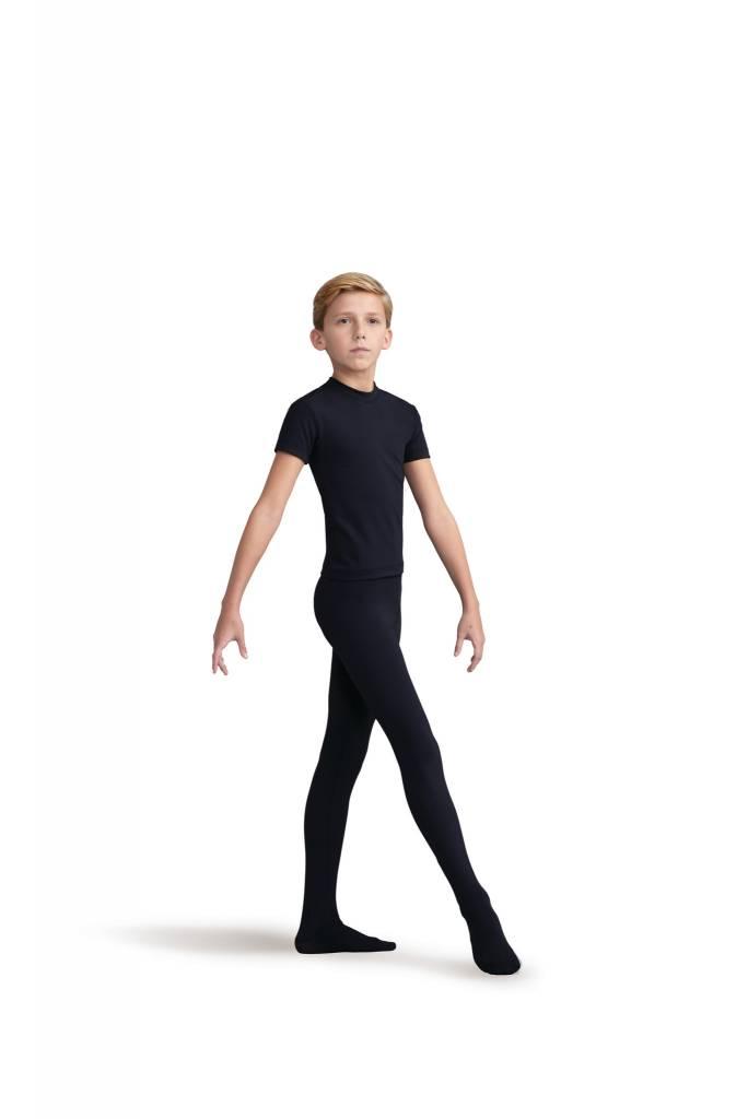 Capezio 10361B-Boys Tactel Footed Tight-BLACK
