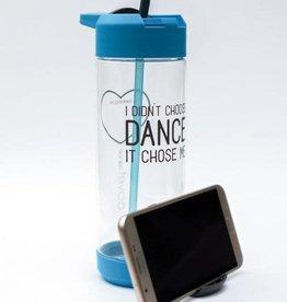 Covet Dance IDCD-WB-I Didn't Choose Dance Mobile Kickstand Water Bottle-BLUE