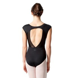 Lulli Dancewear LUF-546-Cap Sleeve Leotard With Dagger Back Cut Out-BLACK