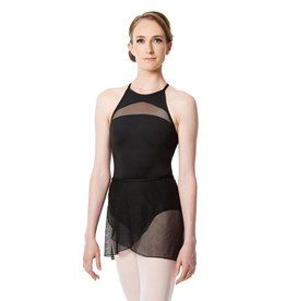 Lulli Dancewear LUF-552-Mesh Wrap Skirt-BLACK