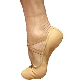 Fuzi SC801-Men Stretch Canevas Ballet Split Sole