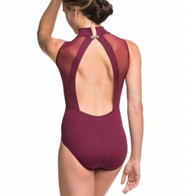AinslieWear 125ME-Angelina Open Back With Mesh Leotard