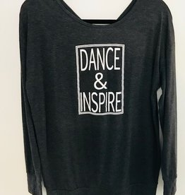 Trendy Trends INST003-Dance & Inspire Long Sleeve-CHARCOAL