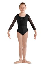 Bloch CZ9326-AURELIA-3/4 mesh Sleeve Warp Top