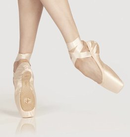 Wear Moi Omega-U Shape Pointes Shoes With Elastic Binding & Satin Ribbons