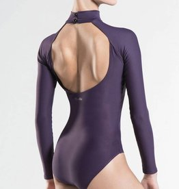 Wear Moi AZEL-Long Sleeve O-Cut Back Turtleneck Leotard