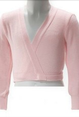 Intermezzo 6000-Long Sleeve Crossover Cardigan-PINK