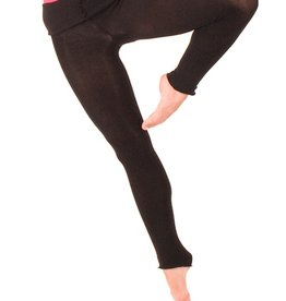 Intermezzo 5034-Knitted Pants With Roll Over Waist Band-BLACK