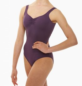 Intermezzo 31232-Pinch Front And Back Camisole Leotard Adult-BLACK