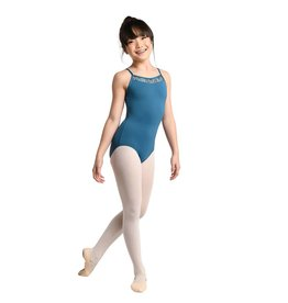 Danshuz 2730C-Camisole Leotard V-Neck Front With Lace