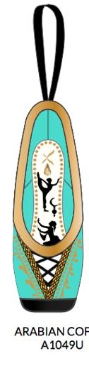 Capezio A1049U-Arabian Coffee Ornament With Swarovski Crystal