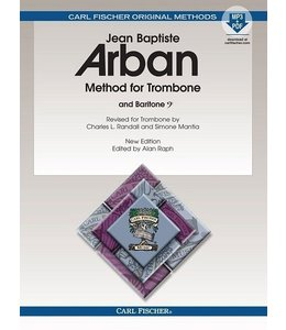 Carl Fischer Method for Trombone New Edition Edited Spiral Bound, by Alan Raph Trombone, Baritone - Jean-Baptiste Arban Alan Raph