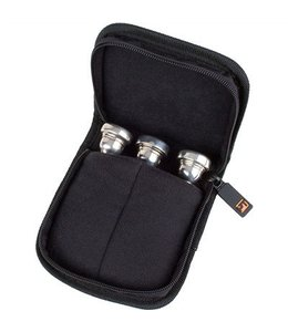 Protec Protec Small Brass 3 Piece Pouch W/ Zipper Closure Black