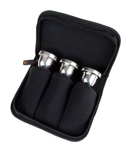Protec TUBA TRIPLE MOUTHPIECE POUCH W/ ZIPPER CLOSURE BLACK