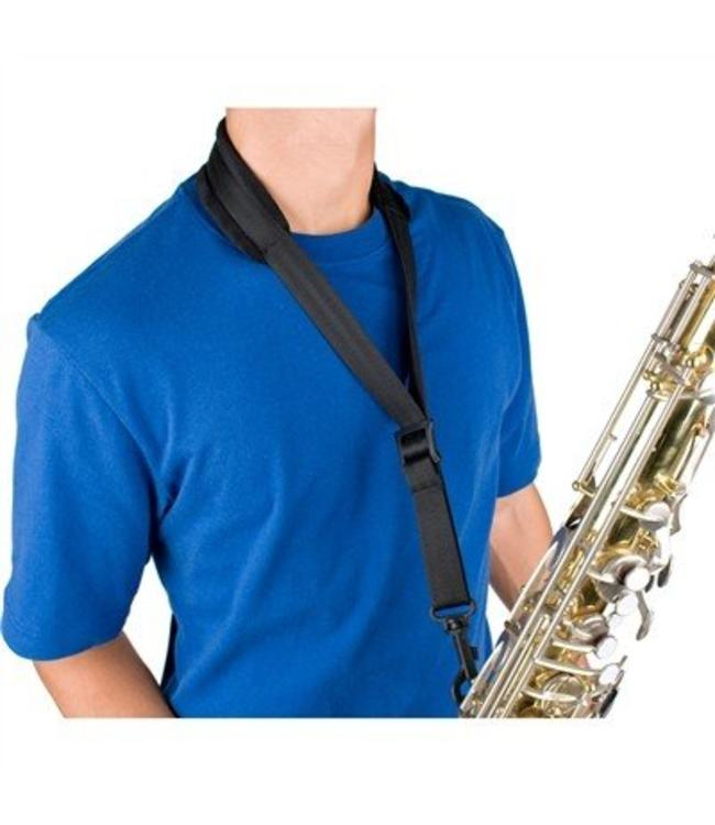 "Protec SAXOPHONE PADDED NECK STRAP-22"" REGULAR W/ PLASTIC SNAP BLACK"
