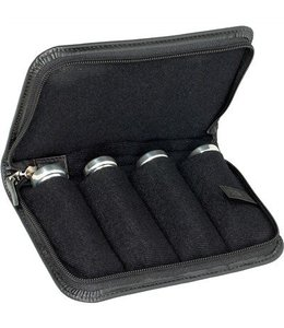 Protec Protec Small Brass 4 Piece Leather Mouthpiece Pouch Black